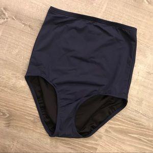 Land's End |  Navy High Waisted Bikini